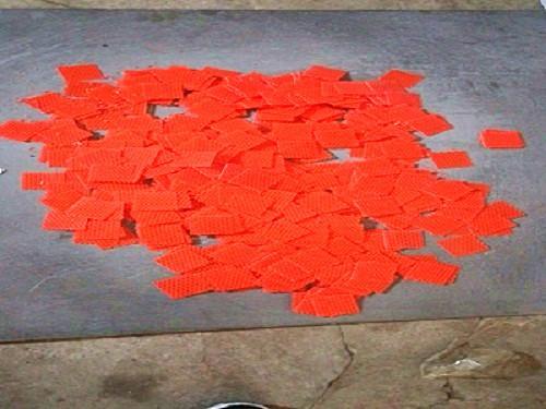 红色塑料冲孔网网片